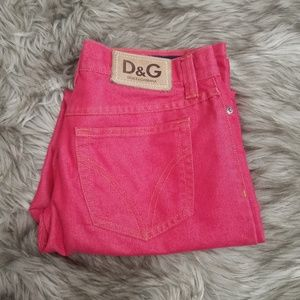 Dolce and Gabbana red denim jeans